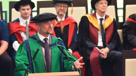 Astronomer Mark Thompson received an honorary doctorate at the UEA. Picture: UEA