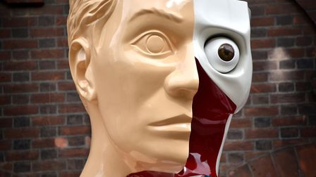 Hymn by Damien Hirst outside Norwich University of the Arts in Norwich.Picture: ANTONY KELLY