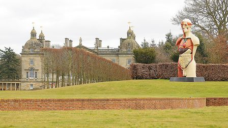 'Temple' by Damien Hirst on display at Houghton Hall. Picture: Ian Burt