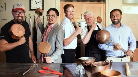 Chefs from five Norwich restaurants who are involved in a new show Gastronomic, a co-production betw