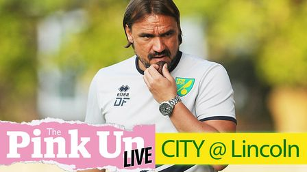 Daniel Farke's Norwich City face a trip to Sincil Bank, to take on League Two Lincoln City in their