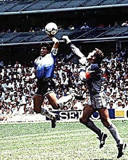 The evil genius at work - Diego Maradona and THAT goal at Italia 90 Picture: PA
