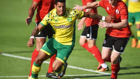 Onel Hernandez was a key figure in Norwich City's 2-0 win over Crawley Town Picture: Antony Kelly