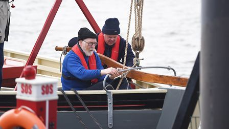 The Baden Powell out on the river in King's Lynn. Pictured is Tim Clayton. Picture: Ian Burt