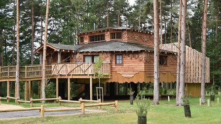 Treehouse holiday accommodation at Center Parcs n in Elveden. Picture: Sonya Duncan