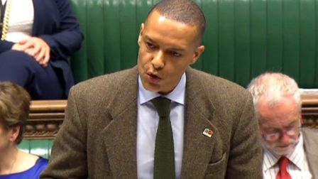 Clive Lewis MP who is fighting the decision to deport one of his constituents