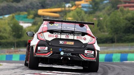Josh Files on his way to third place in race two of the latest TCR Europe championship race at the H