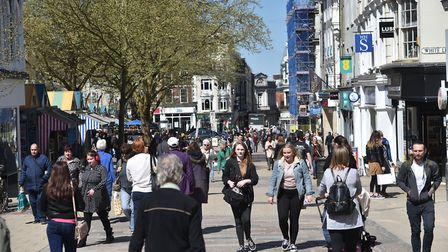 Demand for retail units is struggling, RICS says. Picture: ANTONY KELLY