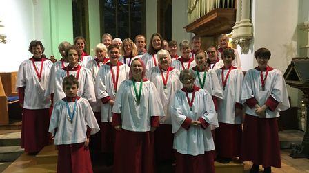 The Choir of Christ Church in Eaton which will be performing a hymathon for Norfolk Day. Picture: Se