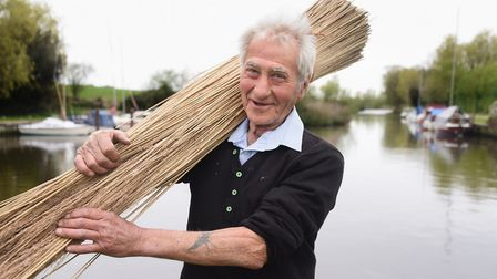 Reedcutter, Wally Mason, who is organising a family day for Norfolk Day at Rockland St Mary. Picture
