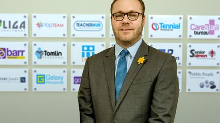 Managing director Paul Mizen was delighted to have raised so much money. Picture: Supplied by Recrui