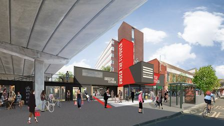 An artist's impression for what the Under The Flyover scheme could look like. Photo: Columbia Thread