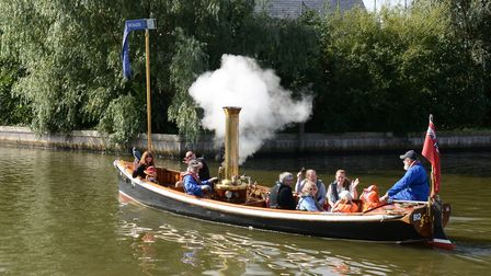 Falcon, the Museum of the Broads' steam boat. The museum in Stalham has received grant funding to bu