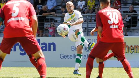 Teemu Pukki got Norwich City's tour off to a winning start with his second goal against Paderborn Pi