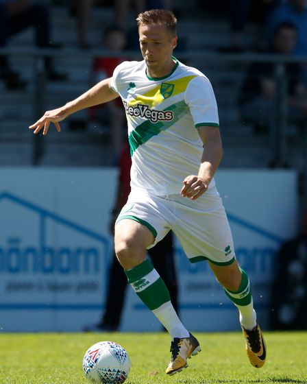 Marco Stieperman of Norwich City during the Friendly match at Benteler Arena, PaderbornPicture by Fo