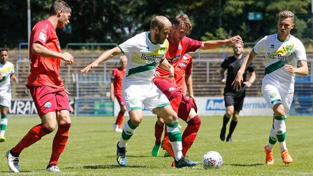 Teemu Pukki of Norwich City during the Friendly match at Benteler Arena, PaderbornPicture by Focus I
