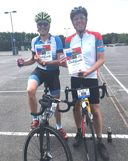 Cyclists took part in a charity bike ride for the Norfolk and Norwich Hospital. Photo: NNUH
