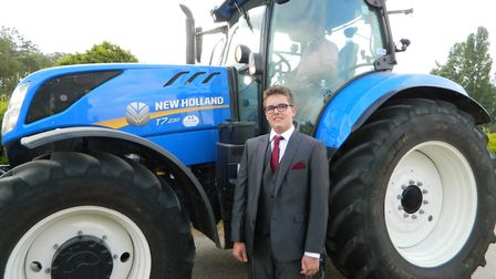 Some pupils even arrived by tractor. Picture: Supplied by Alderman Peel High School.