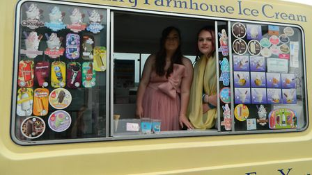 Pupils arrived in an ice cream van. Picture: Supplied by Alderman Peel High School.