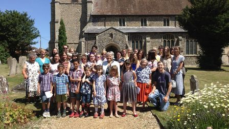 Carole Francis has retuired by the Choruses with Mum group at Carleton Rode All Saints Church, near