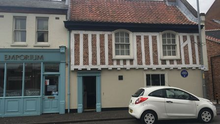 Gorleston's oldest house has been honoured with a blue plaque Photo: Liz Coates
