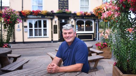 Steve Fiske, landlord of the Whalebone, one of the locations shown to Anglia in Bloom judges during