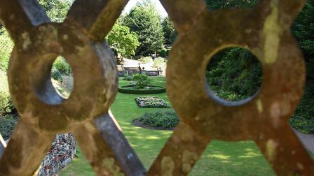 The Plantation Garden, one of the locations shown to Anglia in Bloom judges during a tour by the Fri