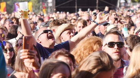 Fans enjoying the Charlatans at Latitude 2018.Picture: Nick Butcher