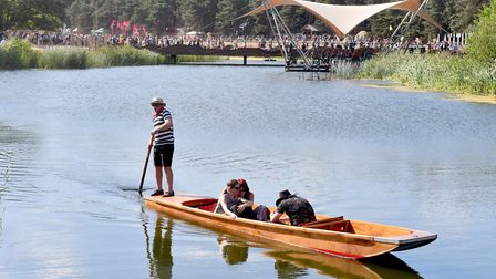 Punting on the lake at Latitude Festival 2018.Picture: Nick Butcher