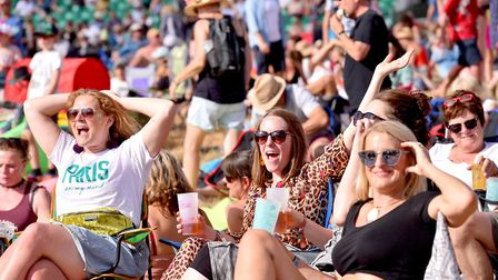 Fans enjoying the sunshine at Latitude.Picture: Nick Butcher