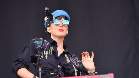 La Femme on stage at Latitude 2018. Picture: Nick Butcher