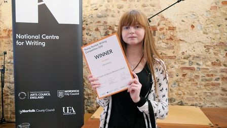 Ciera Drury, 18, from Dereham Sixth Form College, is the 2018 Young Norfolk Laureate.Photo: National