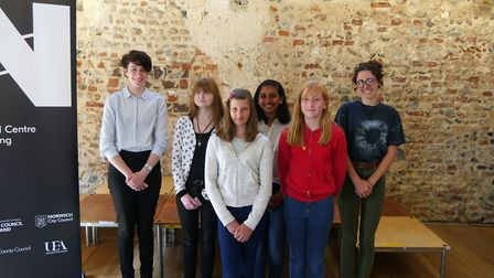 The six winners of the Young Norfolk Writing Competition 2018 at the National Centre for Writing.Pho