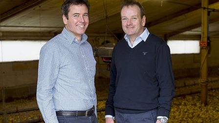 Co-owners and joint managing directors of Gressingham Duck, Geoffrey and William Buchanan. Picture: