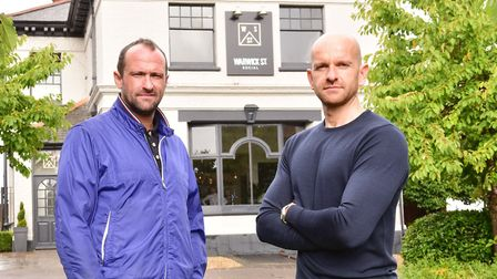 Interview with Greg Adjemian and Dan Smith (blue jacket) who own the Ingham Swan. Picture: Nick But