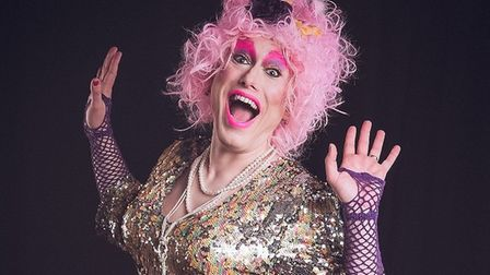 Drag idol, Marcia D'arc will bring the gliz and glamour to the Octagon Unitarian Chapel. Picture: Co