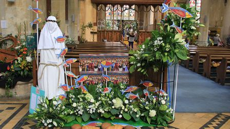 A colourful display at the Old Hunstanton flower festival. Picture: Simon Bamber