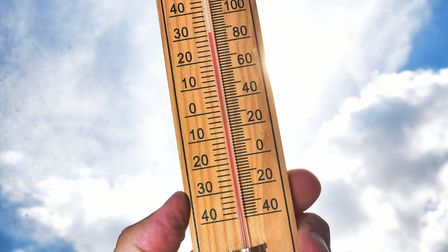 A thermometer reaching 30 degrees Celsius in Hoveton, Norfolk.Picture: ANTONY KELLY