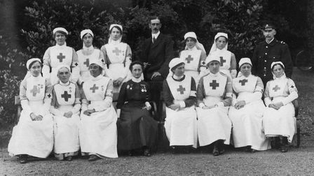 Staff of Hoveton Hall Auxiliary War Hospital in the First World War. Picture: Archant Library