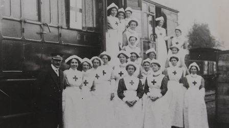 The GER training school for Red Cross volunteer nurses in 1914 from the Thorpe St Andrew Town Counci