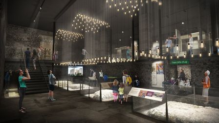Norwich Castle: Gateway to Medieval England project.Pictured is the visualisation of the ground floo