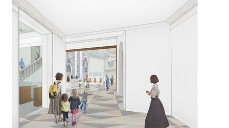 Norwich Castle: Gateway to Medieval England project.Pictured is the visualisation of the new visitor