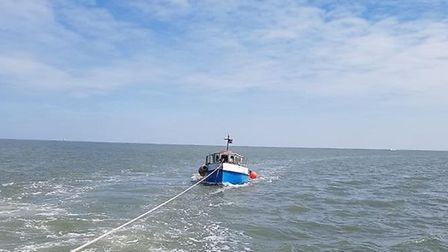 Great Yarmouth and Gorleston Lifeboat was called to a stricken fishing boat. Photo: Great Yarmouth a