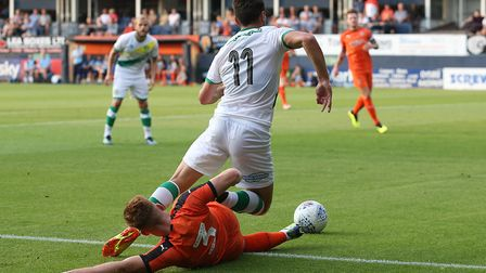 Ben Marshall was prominent for Norwich City at Luton Town Picture: Paul Chesterton/Focus Images Ltd
