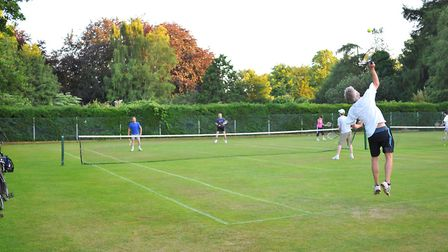 Flashback photograph to when the tennis courts were in use. Photo: Bill Smith