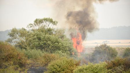 Fire crews are dealing with six times as many calls as normal due to the hot dry weather. Picture: I