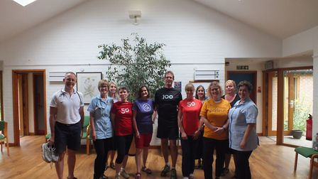 GPs at Oak Street Medical Practice along with the run director from the Norwich parkrun, Mary Cordea