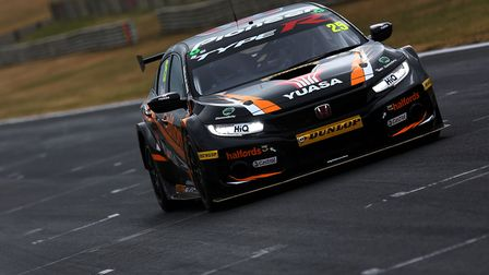 Third-placed Matt Neal in action with his Halfords Yuasa Racing Honda Civic at the recent test day a