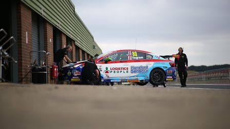 Second-placed Tom Ingram will be aiming to close in on series leader Colin Turkington this weekend P