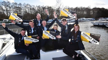 Staff at Richardson's get behind Norfolk Day.Picture: ANTONY KELLY